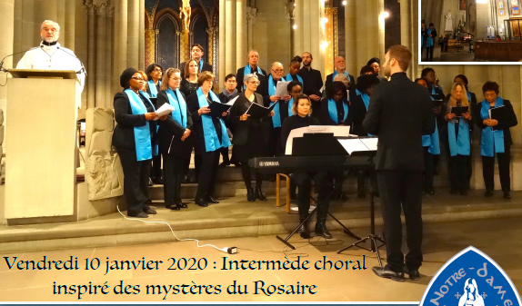 Intermède choral par le chœur de Notre-Dame – 10 janvier