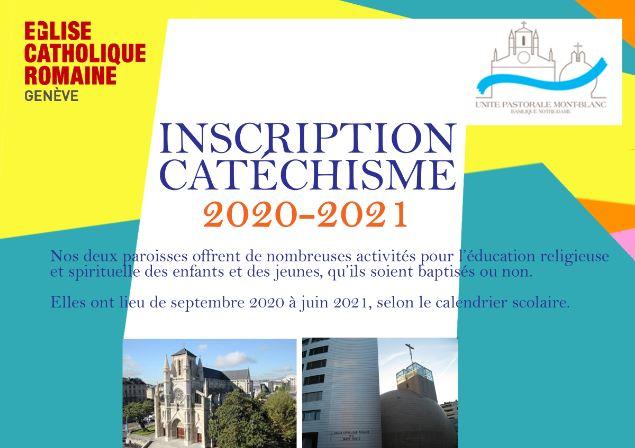 Inscription au catéchisme 2020-2021