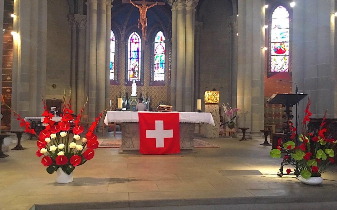 Fête Nationale Suisse – messe solennelle samedi 1er août à 18h30